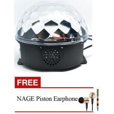 Perbandingan Harga Nage Mp3 Player Crystal Magic Ball Sound Activated Led Disco Lamp Hitam Free Nage Piston Earphone Di Dki Jakarta