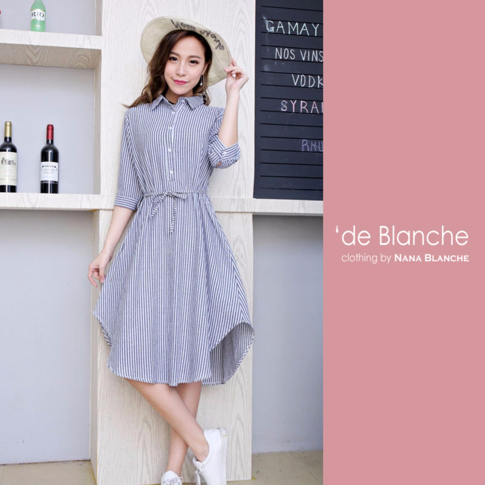 Review Nana Blanche Noya Dress Tunik Wanita 908 Grey Indonesia