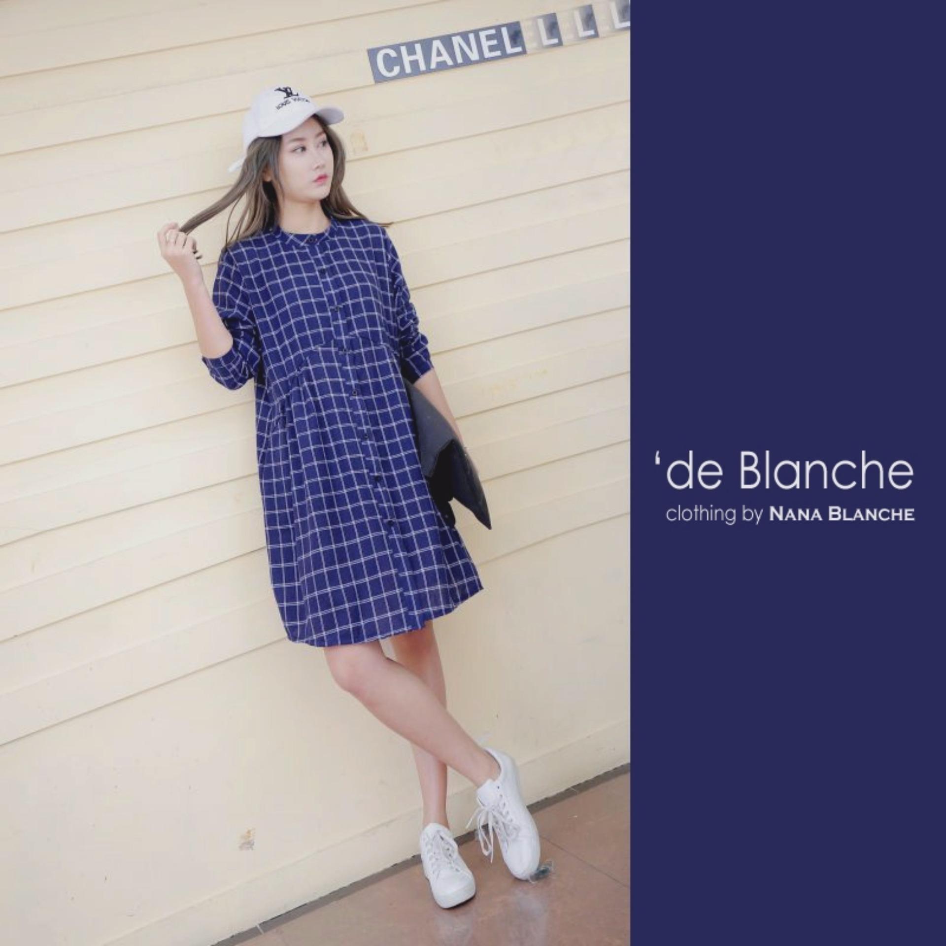 Spesifikasi Nana Blanche Zoya Blouse Tunik Wanita 958 2 Blue Nana Blanche