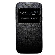 Nano Leather Flip Cover for Lenovo A5000 - Hitam