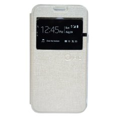 Nano Leather Flip Cover For Oppo Joy Cream Nano Diskon 50