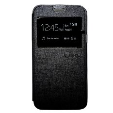Jual Nano Leather Flip Cover For Oppo Joy Hitam Baru