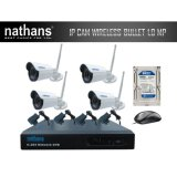 Spesifikasi Nathans Cctv Paket 4 Channel Wireless Hd 1 0Mp Bullet Paling Bagus
