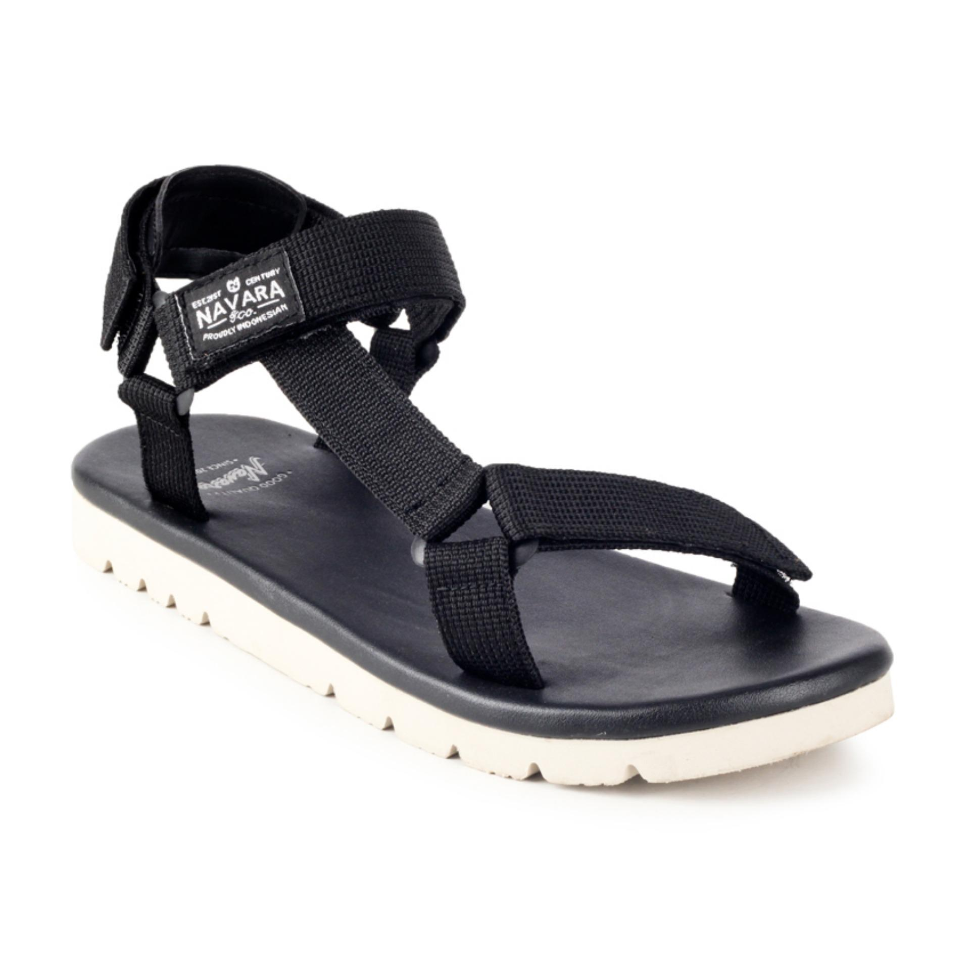 Jual Navara Sandals Clark Black Original