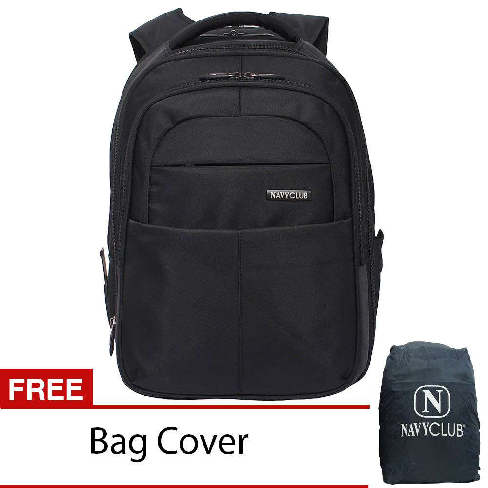Jual Navy Club Ransel Laptop Expandable 8306 Hitam Branded