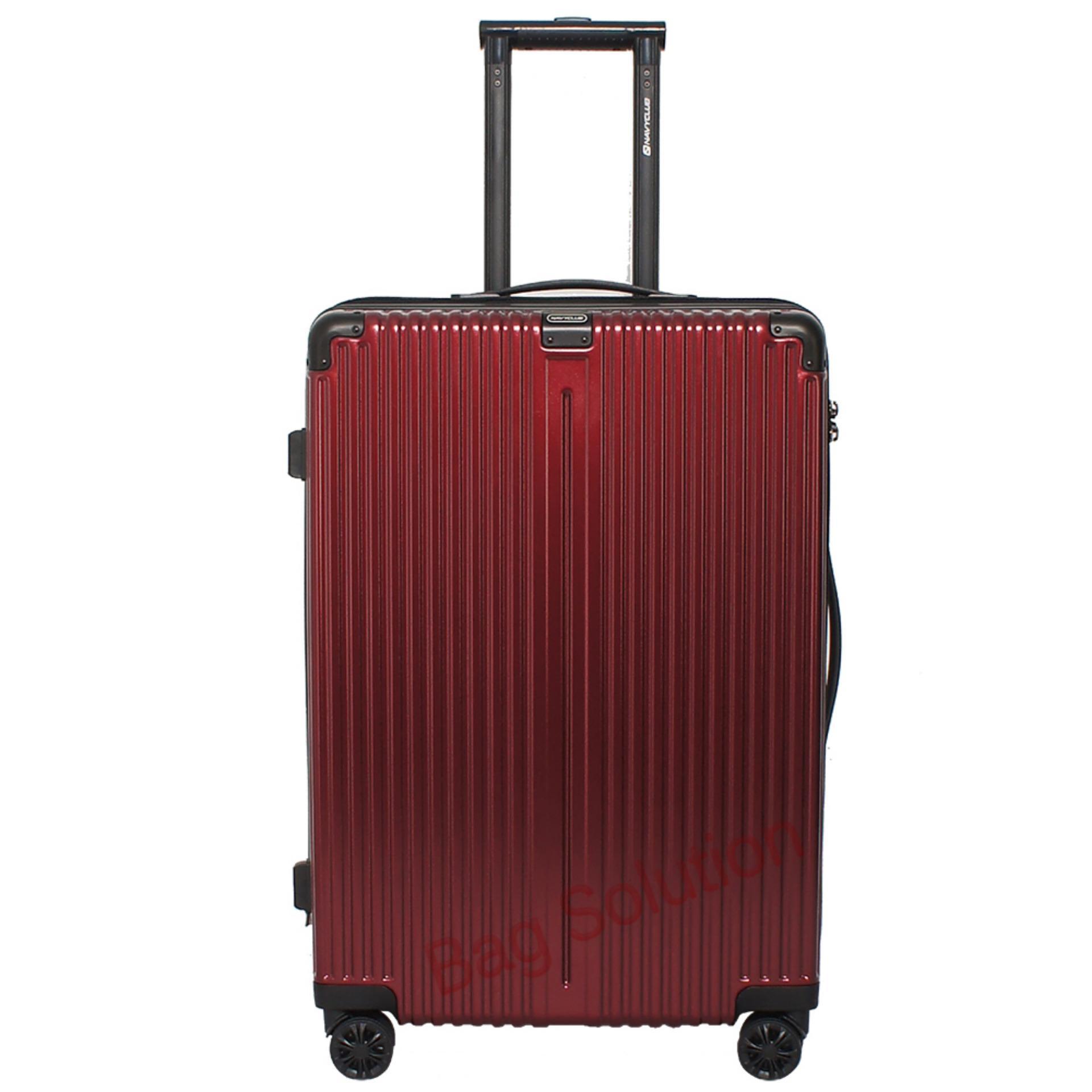 Promo Navy Club Tas Koper Hardcase Fiber Pc 4 Roda Resleting Anti Tusuk Expandable Kunci Tsa Chgg Size 20 Inch Merah Murah