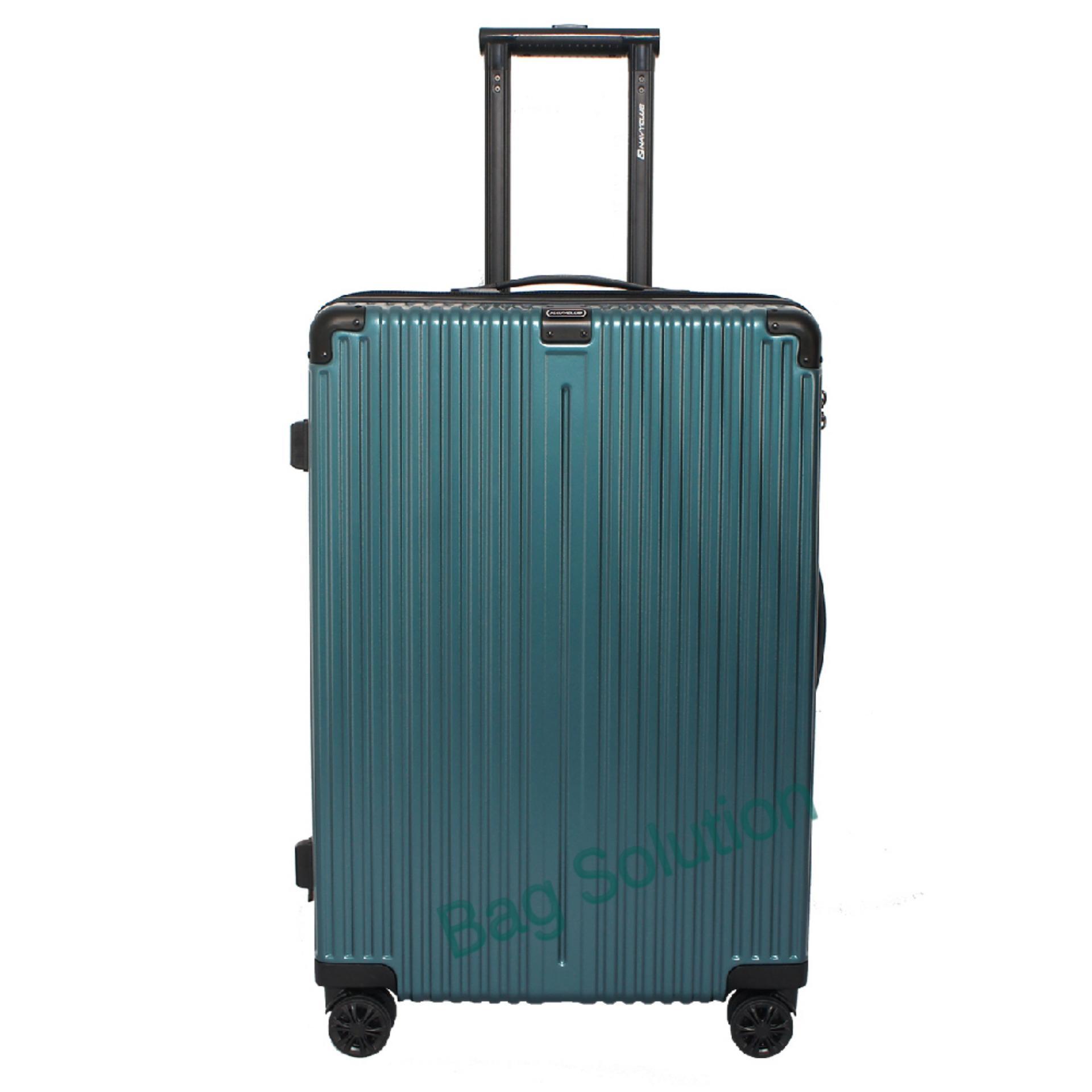 Navy Club Tas Koper Hardcase Fiber PC - 4 Roda - Resleting Anti Tusuk Expandable - Kunci TSA - CHGG Size 24 Inch - Hijau