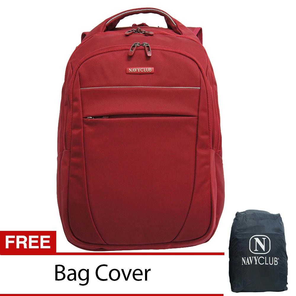 Beli Navy Club Tas Pria Tas Wanita Backpack Tas Ransel Laptop 8282 Merah Gratis Bag Cover Murah Di Indonesia