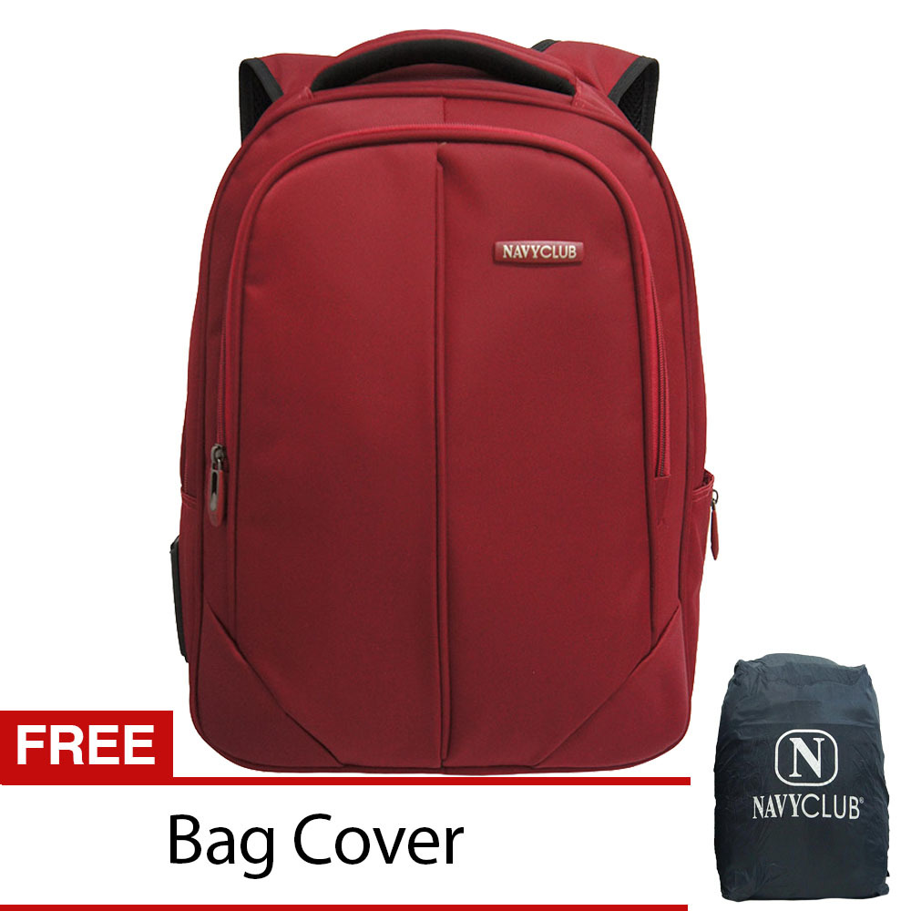 Jual Navy Club Tas Ransel Laptop 8233 Backpack Up To 15 Inch Bonus Bag Cover Merah Di Indonesia