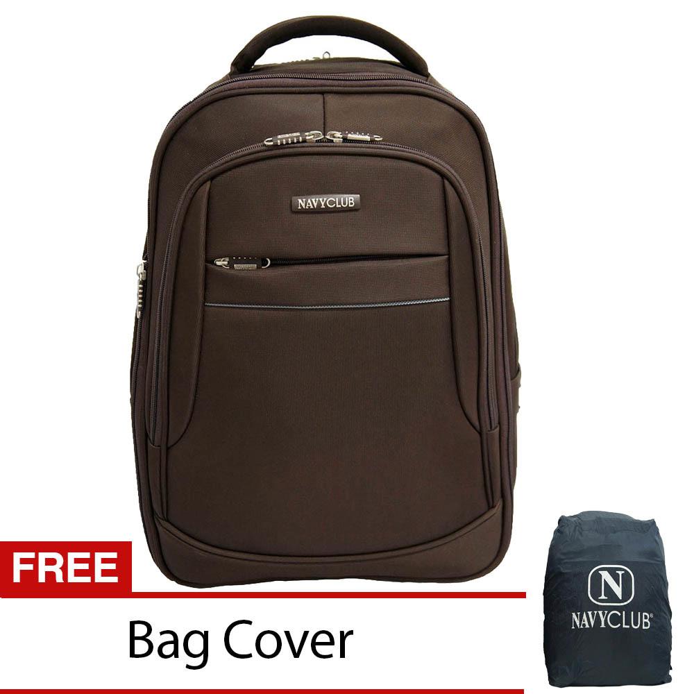 Spesifikasi Navy Club Tas Ransel Laptop Expandable Waterproof 5853 Coklat Free Bag Cover Bagus