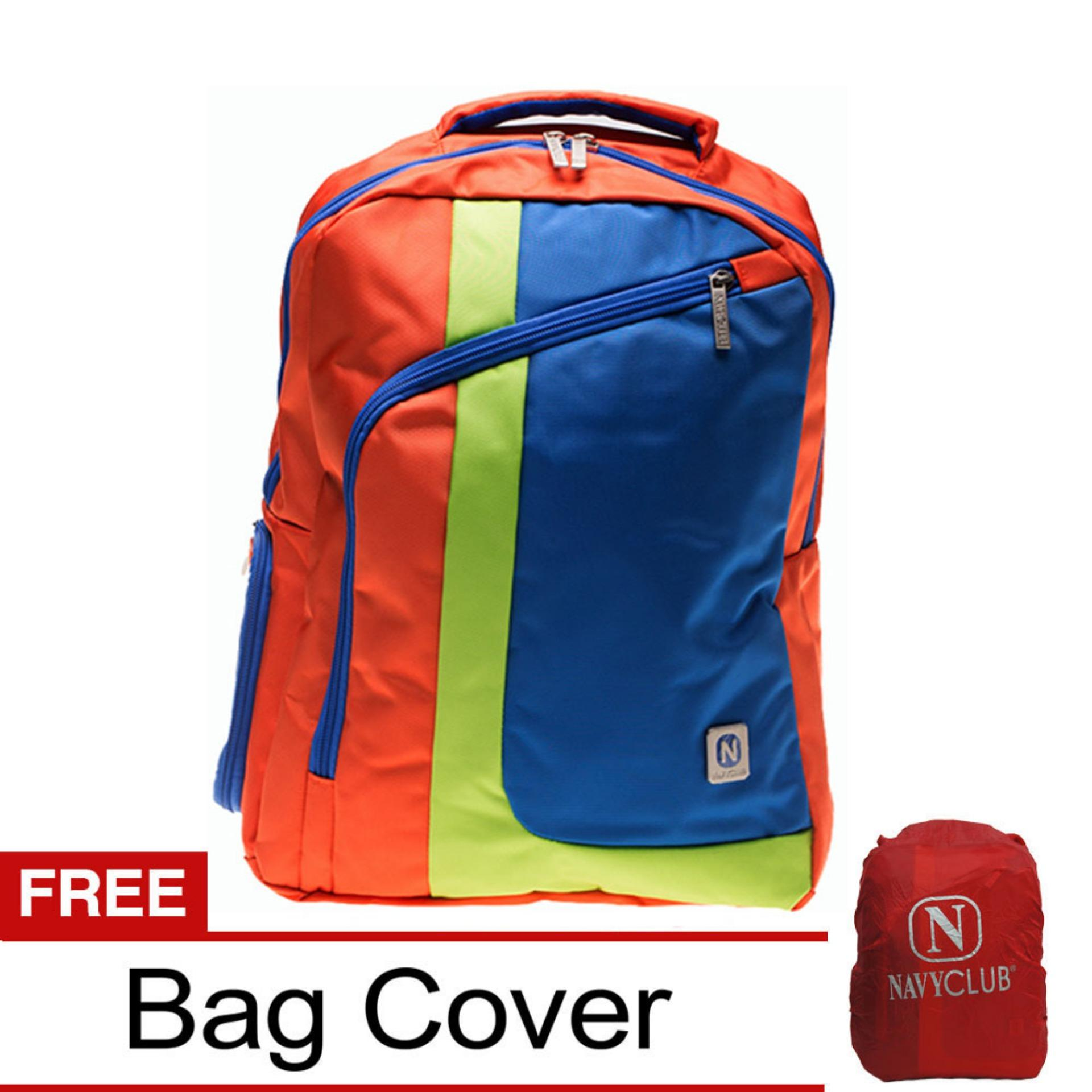 Spesifikasi Navy Club Tas Ransel Laptop Kasual 3260 Tas Pria Tas Wanita Tas Laptop Backpack Up To 15 Inch Bonus Bag Cover Orange B Navy Club Terbaru