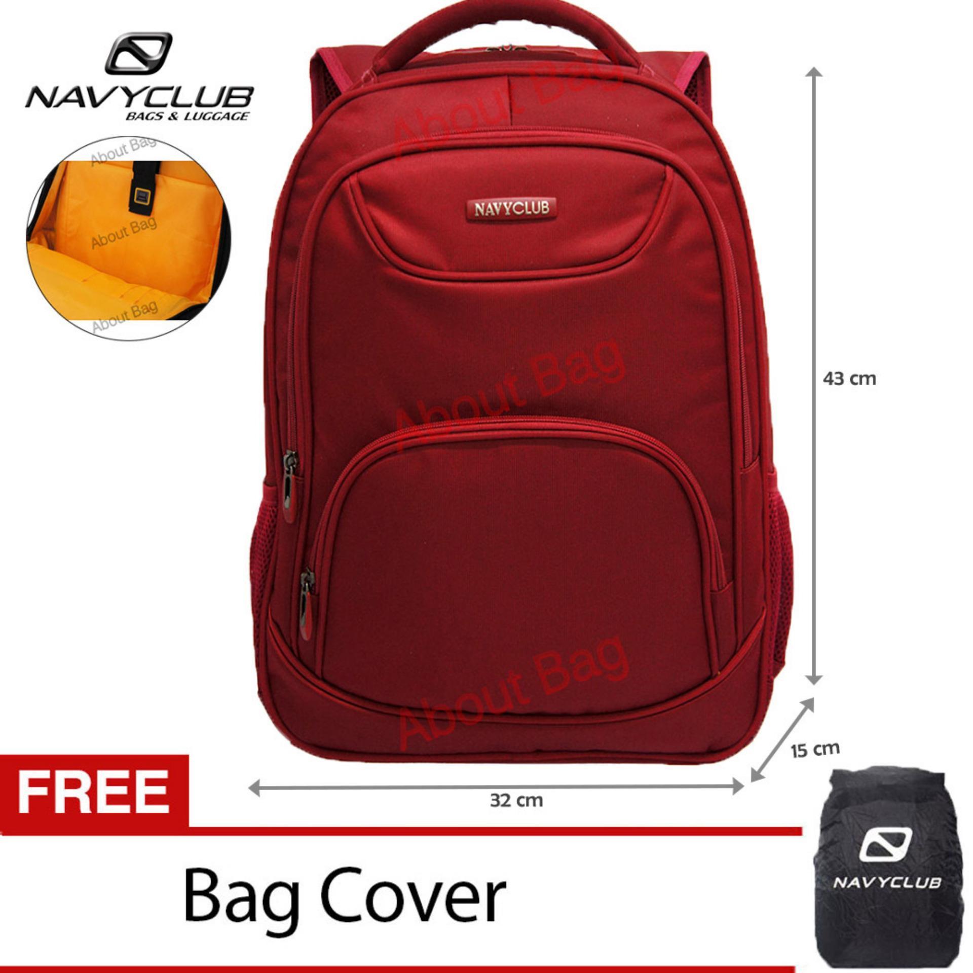 Harga Navy Club Tas Ransel Laptop Tahan Air 8297 Backpack Up To 15 Inch Bonus Bag Cover Merah Original