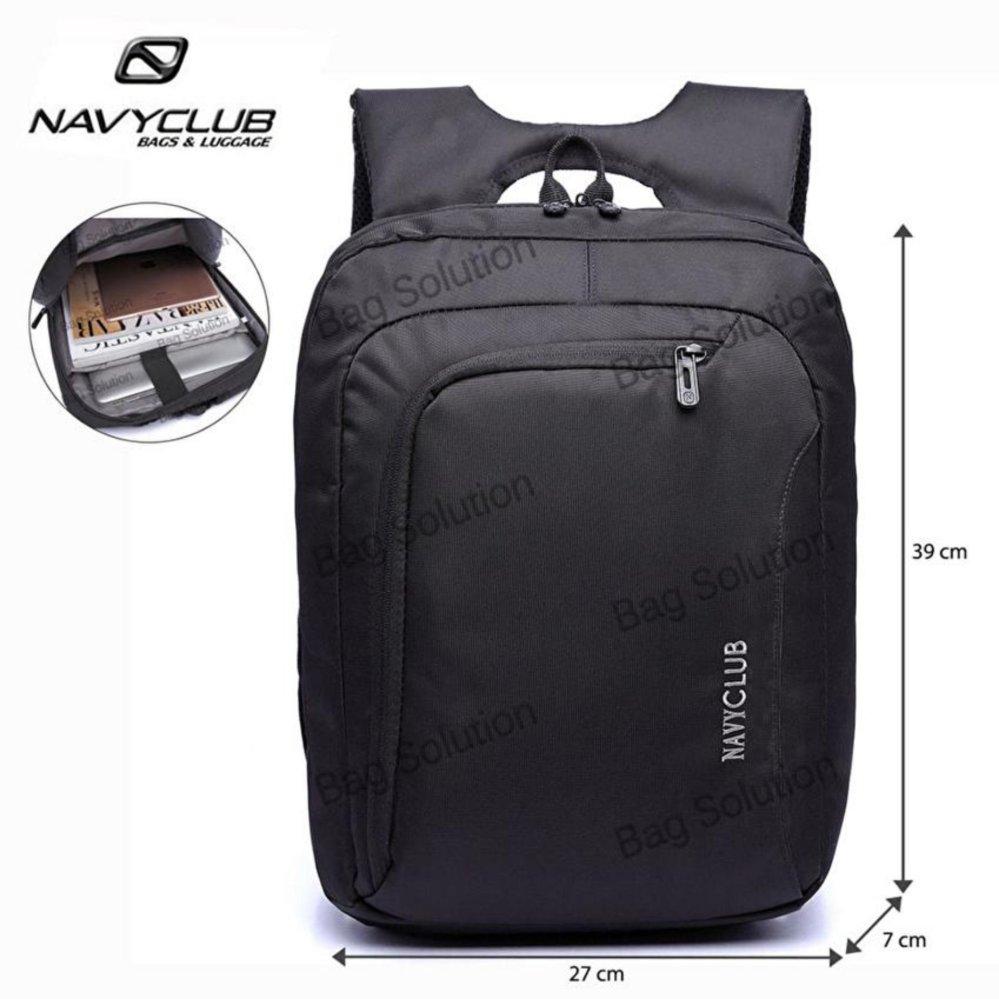 Harga Navy Club Tas Ransel Laptop Tahan Air Tas Pria Tas Wanita 5850 Backpack Up To 15 Inch Hitam Navy Club