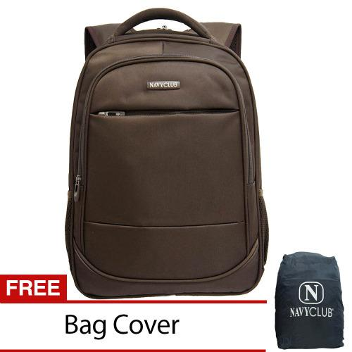 Beli Navy Club Tas Ransel Laptop Tahan Air Tas Pria Tas Wanita 8300 Backpack Up To 15 Inch Bonus Bag Cover Coklat Navy Club Murah