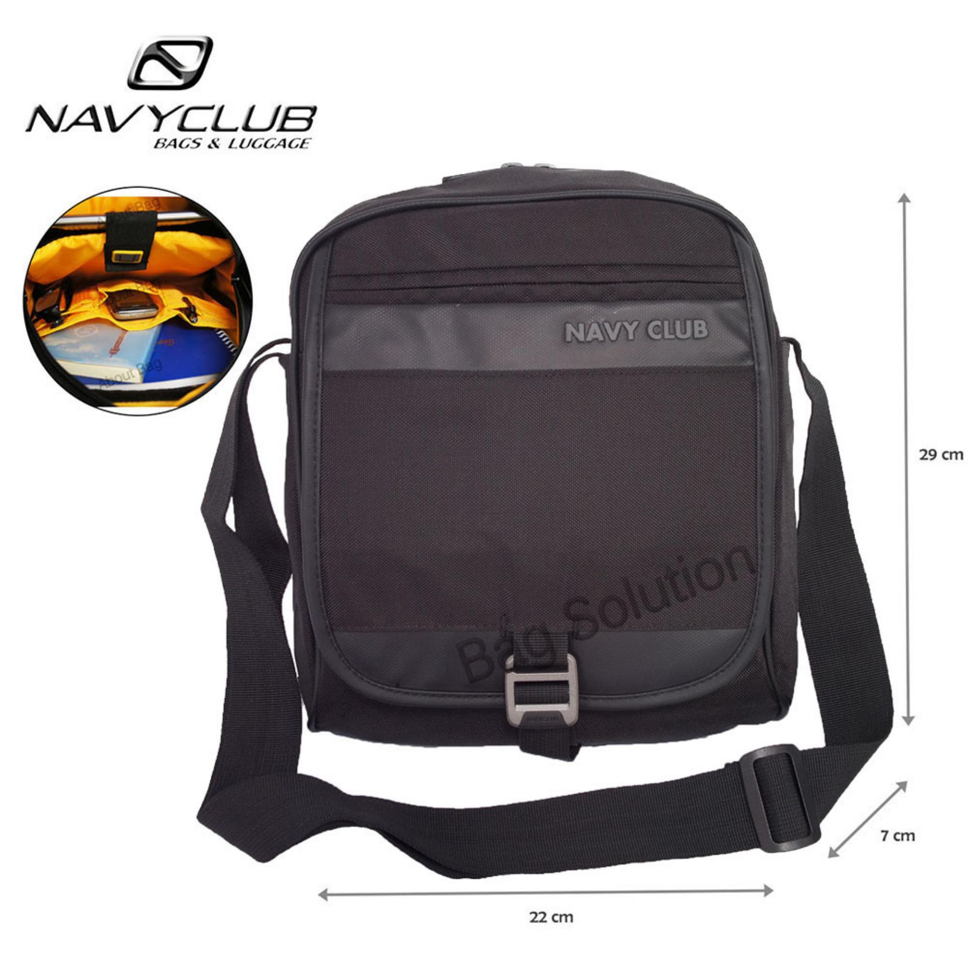 Navy Club Tas Selempang Tablet Ipad Up to 10 Inch - Tas Pria Tas Wanita 8271 - Hitam