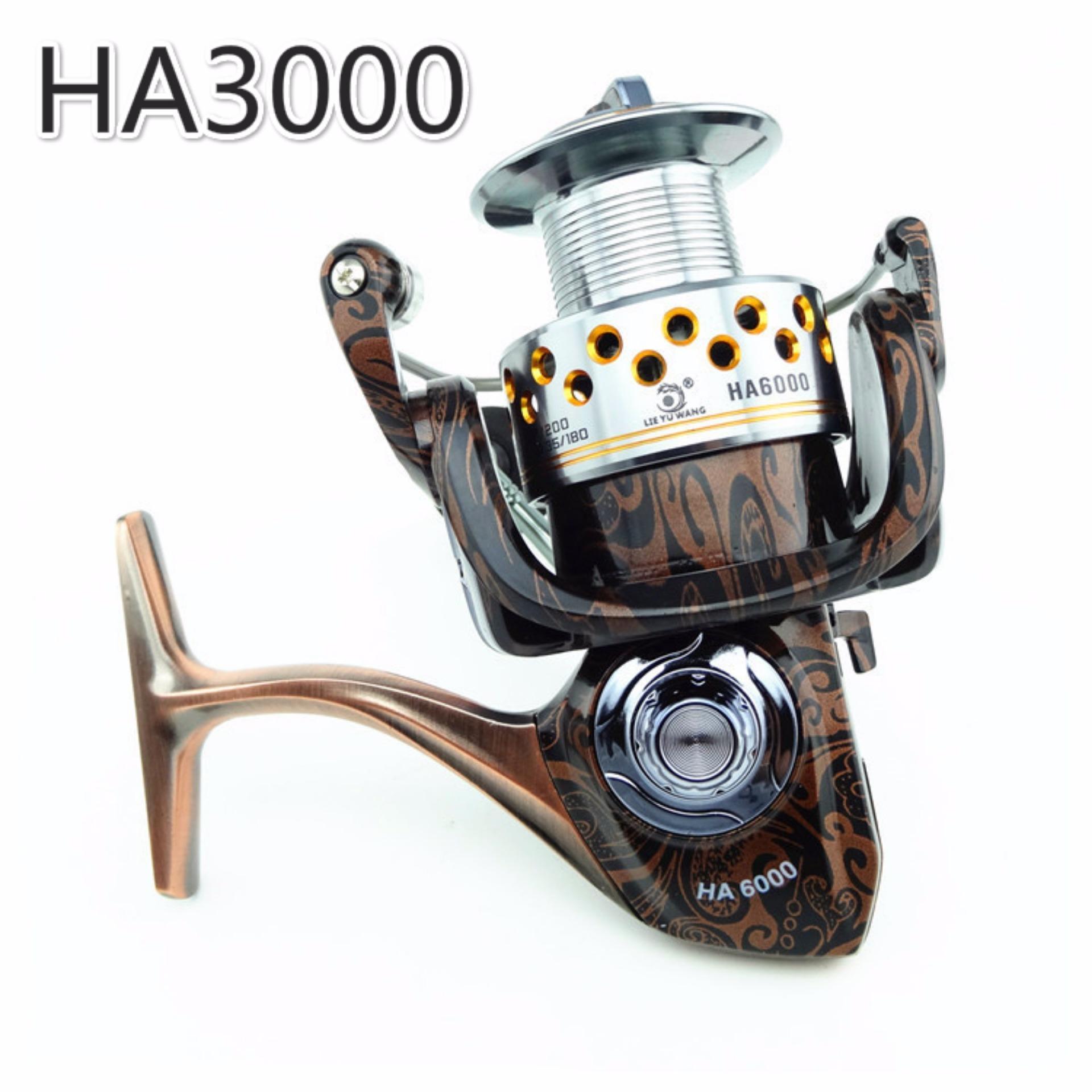 NBS Memancing Reel HA 13 + 1 BB All Metal Spiner Umpan Bait Reel 5.2: 1 Rasio Gear Memancing Carp Reel Rod (HA3000)
