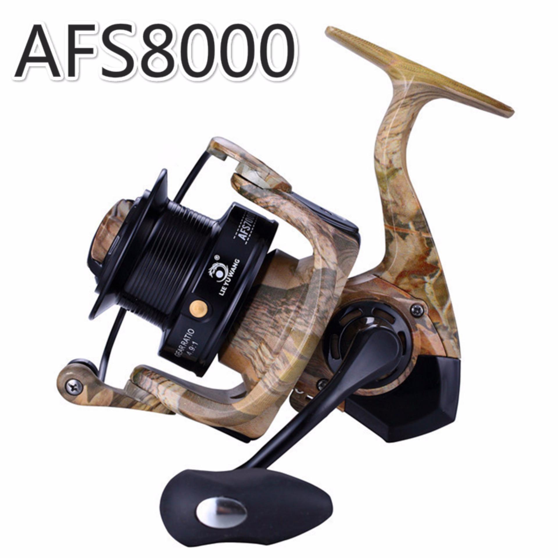 Promo Nbs Spinning Fishing Reel Afs 12 1Bb Lure Reel Jauh Carp Reels Afs8000 Oem Terbaru