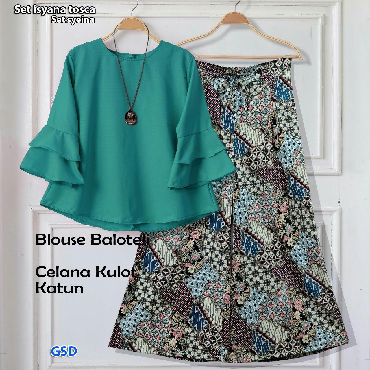 NCR - Setelan Baju Wanita / Celana Kulot / Celana Batik / St Kulot Syeina