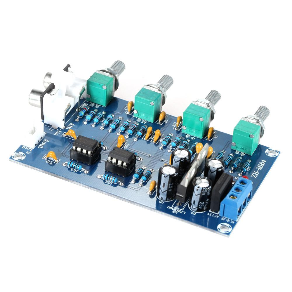 Toko Jual Ne5532 Stereo Pre Amp Preamplifier Tone Amplifier Board Audio 4 Channels Intl