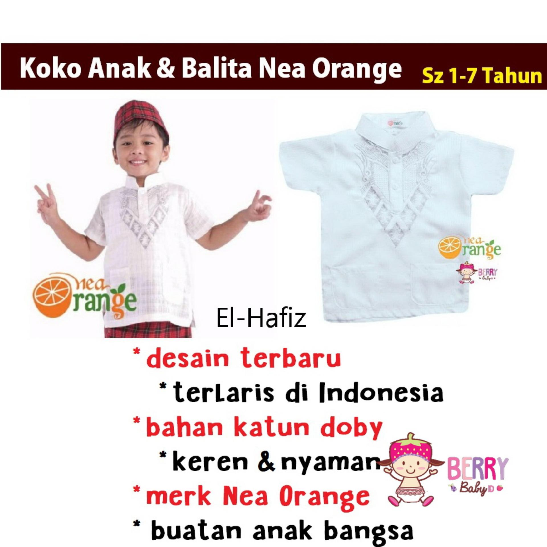 Harga Nea Orange Baju Koko El Hafiz Anak Balita Lebaran 2017 Di Jawa Barat