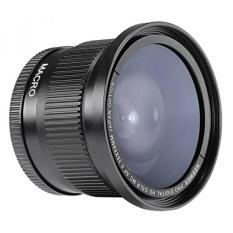 Neewer 58mm 0.35X Super Fisheye Wide Angle Lens dengan Penutup Lensa untuk Canon Rebel T5i, T4i, T3, T3i, T2i, T1i, XTi, XT, XSI, XS, SL1, Canon EOS 1100D, 1000D, 700D, 650D, 600D, 550D, 500D, 450D, 400D, 300D, 100D DSLR Kamera-Intl