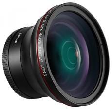 Neewer 58mm 0.43X HD Wide Angle Lens dengan Macro Close-Up Portion Lensa Tidak Ada Distorsi untuk Canon EOS Rebel 700D 650D 600D 550D 500D 450D 400D 350D ...