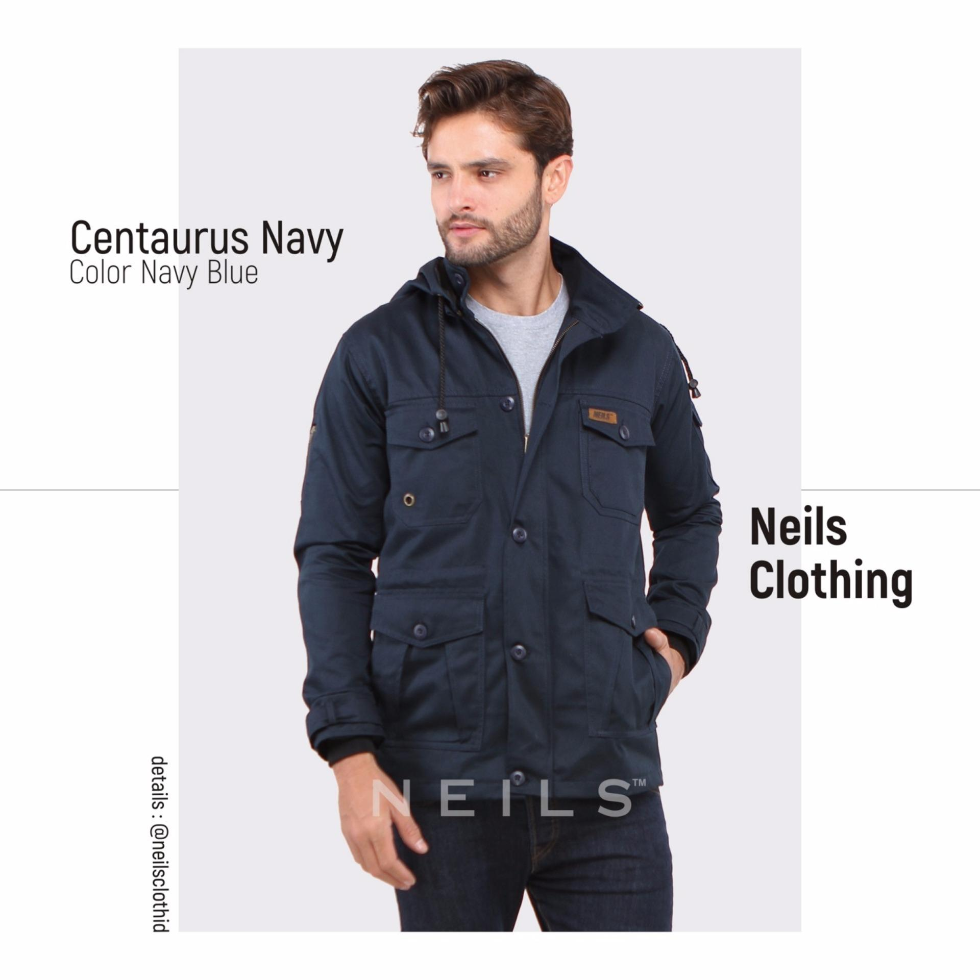 Beli Neils Centaurus Jaket Parka Windbreaker Navy Online Jawa Barat