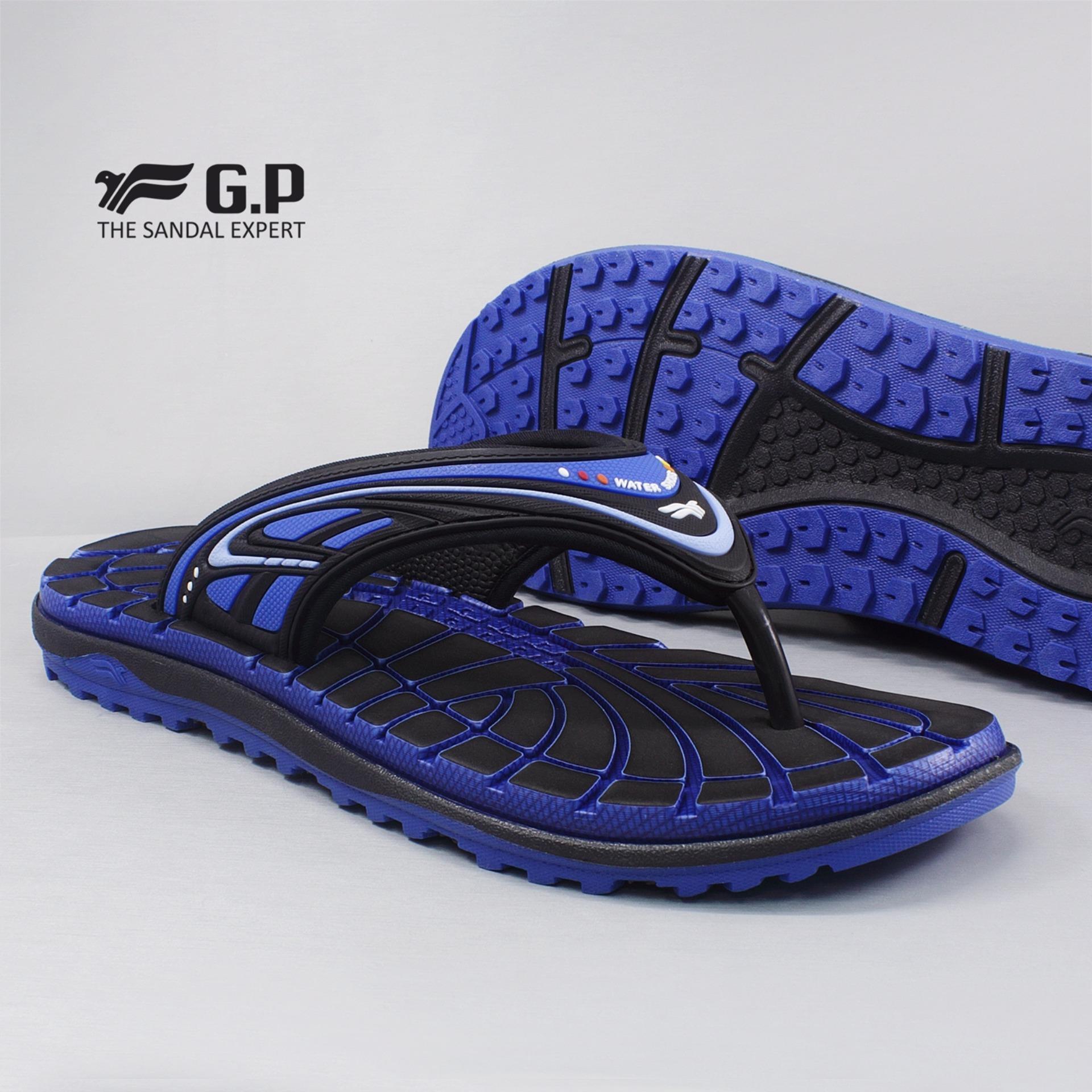 New Gp Gold Pigeon Sandal Pria Elast Blue G7591 23 Murah