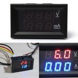 Baru 28 Tampilan Ganda Merah Biru Led Panel 4 5 30 V Digital Voltmeter Ammeter Amperemeter 100A Intl Terbaru
