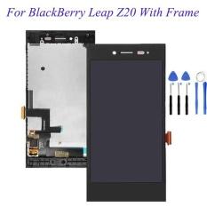 Baru 100% Touch Digitizer Layar LCD Display Assembly untuk BlackBerry Leap Z20 (Hitam) + 3 M Tape + Membuka Alat Perbaikan + Lem