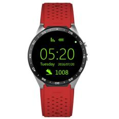 New  ! 3G Smart watch kw88 Android 5.1 OS 400*400 MTK6580 quad core CPU Support 3G WiFi Nano SIM Card GPS Smartwatch with 2.0MP camera Red
