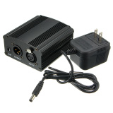 Jual Beli Online New 48V Phantom Power Supply With Adapter For Condenser Microphone Us Plug Intl