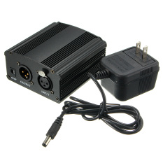 New 48V Phantom Power Supply With Adapter For Condenser Microphone Us Plug Intl Murah