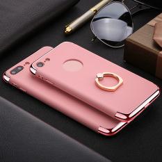 Baru Apple7 Plus IPhone 7 Plus Ponsel Pelat Cangkang Cincin Gesper Golongan Tiga Potong Baju Pelindung Lengkap (berwarna Merah Muda) -Internasional