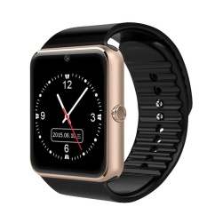 Baru Kedatangan GT08 Smart Watch Clock Sync Notifier Mendukung SIM TF Kartu Konektivitas Apple IPhone Android Ponsel Smartwatch-Intl