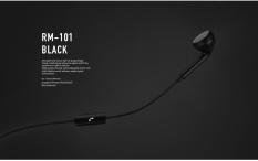 Kedatangan Baru REMAX RM-101 3.5mm Single-sided Wired Mengontrol In-Ear Earphone dengan Musik untuk Universal Ponsel-Intl