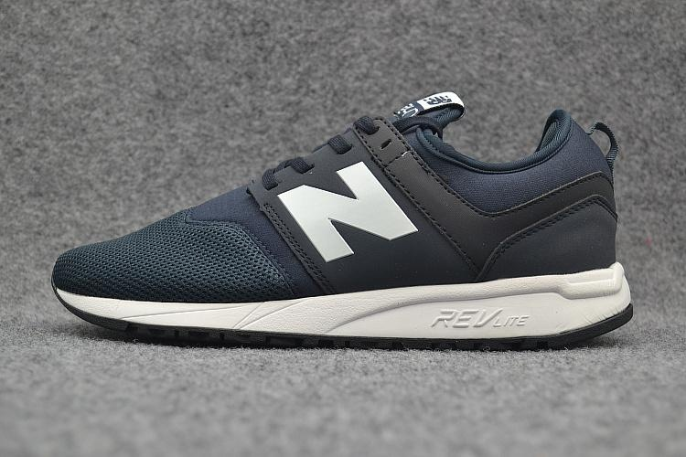 Beli New Balance 247 Classic Mrl247Rb Men And Women Sneaker Navy White Mesh Synthetic Casual Shoes Eu 36 44 Intl Murah Di Taiwan