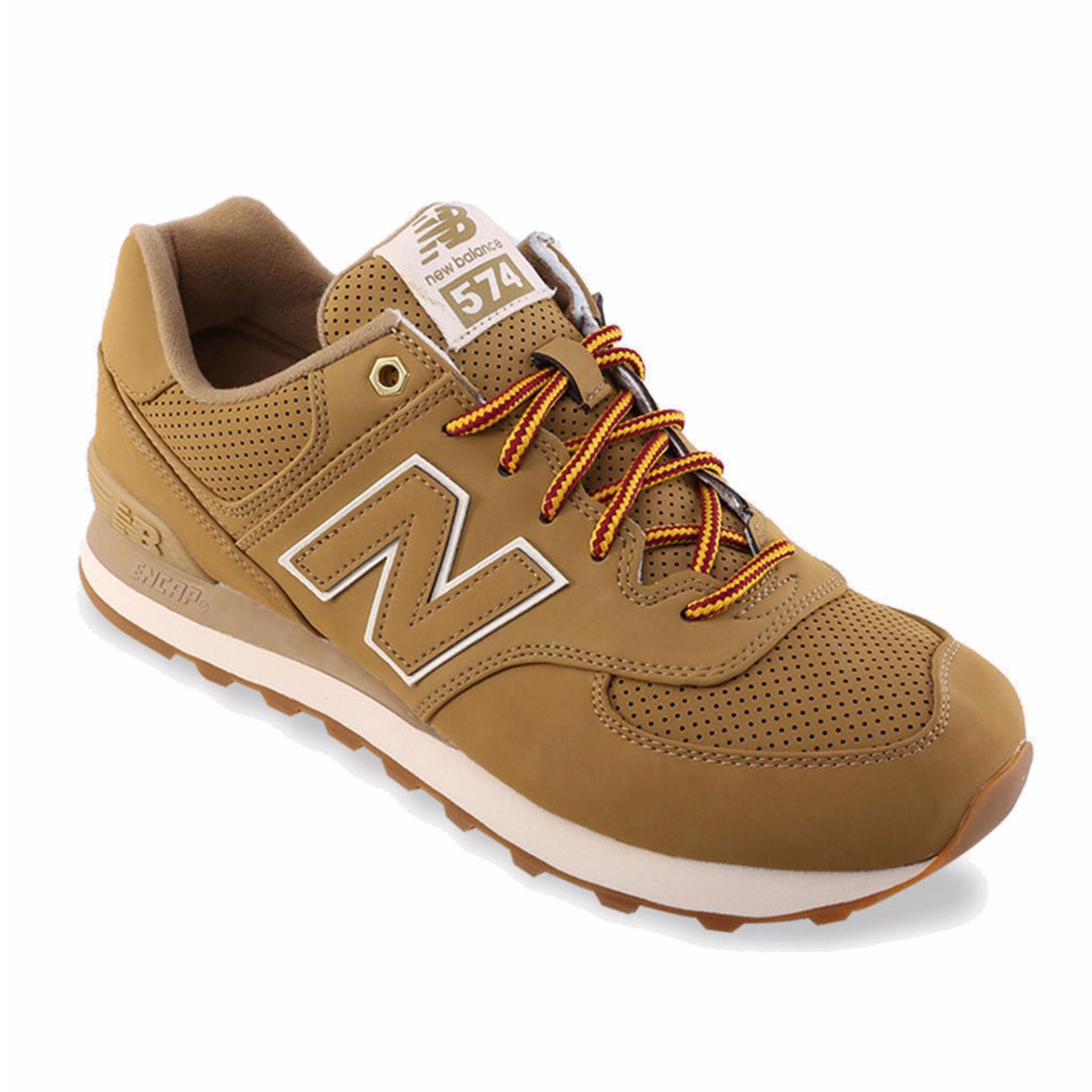 Beli New Balance 574 Heritage Sneakers Pria Coklat New Balance Dengan Harga Terjangkau