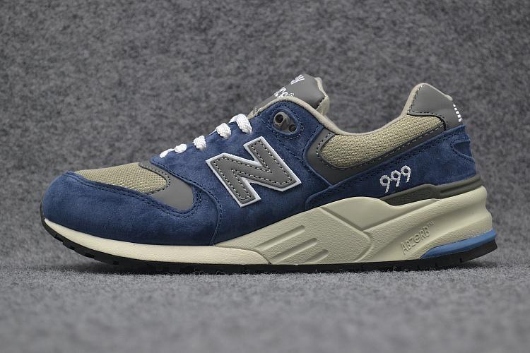 Baru Balance Pria atau Wanita ML999NVD Kasual Sneaker NB 999 Uniseks Sepatu Lari Angkatan Laut Grey (EU 36- 44) -Internasional