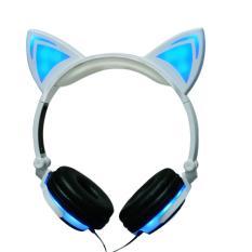 Beli Baru Kartun Cat Ear Headphone Lipat Berkedip Glowing Earphone Gaming Headset Dengan Led Light Untuk Komputer Pc Laptop Ponsel Putih Intl Oem Asli