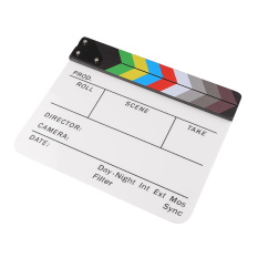 Harga New Colorful Clapperboard Acrylic Movie Action Slate Clap Clapper Board Handmade Lengkap