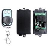 Model New Dc 12 V 2 Saklar Remote Mengendalikan Saluran Rancangan Rf Nirkabel Pemancar Receiver Terbaru