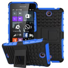 New Dual Layer Hybrid Armor Case Detachable 2 In 1 Shockproof Tough Rugged Case Cover For Microsoft Lumia 430 Case(Blue) - intl