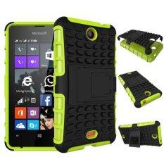 Baru Dual Layer Hybrid Armor Case Detachable 2 In 1 Shockproof Tough Rugged Case Cover untuk Microsoft Lumia 430 Case (hijau) -Intl