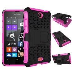 Baru Dual Layer Hybrid Armor Case Detachable 2 In 1 Shockproof Tough Rugged Case Cover untuk Microsoft Lumia 430 Case (Pink) -Intl
