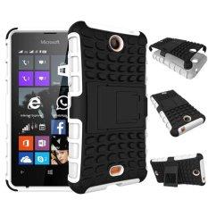Baru Dual Layer Hybrid Armor Case Detachable 2 In 1 Shockproof Tough Rugged Case Cover untuk Microsoft Lumia 430 Case (putih) -Intl