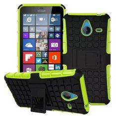 Baru Dual Layer Hybrid Armor Case Detachable 2 In 1 Shockproof Tough Rugged Case Cover untuk Microsoft Lumia 640 XL (hijau) -Intl