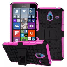 Baru Dual Layer Hybrid Armor Case Detachable 2 In 1 Shockproof Tough Rugged Case Cover untuk Microsoft Lumia 640 XL (pink) -Intl
