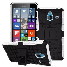 Baru Dual Layer Hybrid Armor Case Detachable 2 In 1 Shockproof Tough Rugged Case Cover untuk Microsoft Lumia 640 XL (putih) -Intl