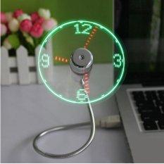 Baru Tahan Lama Adjustable USB Gadget Mini Fleksibel LED Light USB Fan Waktu Jam Desktop Clock Cool Gadget Tampilan Waktu Tinggi Kualitas-Intl